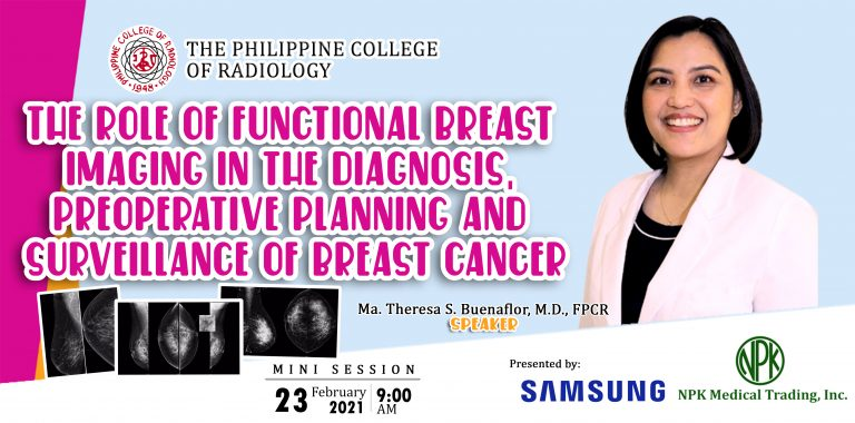 Webinar : The Role of Functional Breast Imaging in the diagnosis, preoperative planning and surveillance of Breast Cancer