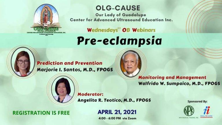 Webinar: OLD Cause – Pre eclampsia