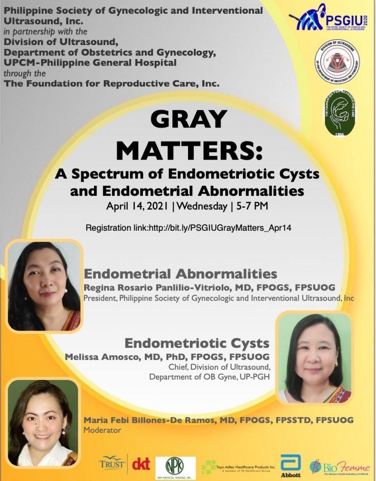 Webinar : A Spectrum of Endometriotic Cysts and Endometrial Abnormalities